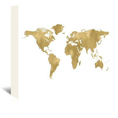 Americanflat 'World Map' by Amy Brinkman Graphic Art Wrapped on Canvas