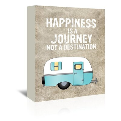 Americanflat 'Camper Happiness Is Journey' by Amy Brinkman Graphic Art Wrapped on Canvas