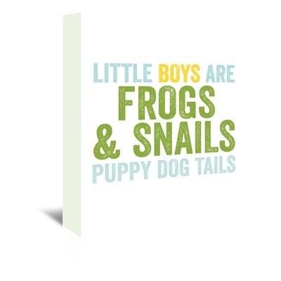 Americanflat 'Little Boys Are Blue Green' by Amy Brinkman Typography Wrapped on Canvas