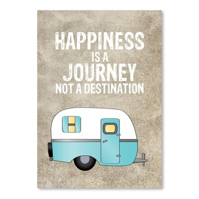 Americanflat 'Camper Happiness is Journey' by Amy Brinkman Graphic Art