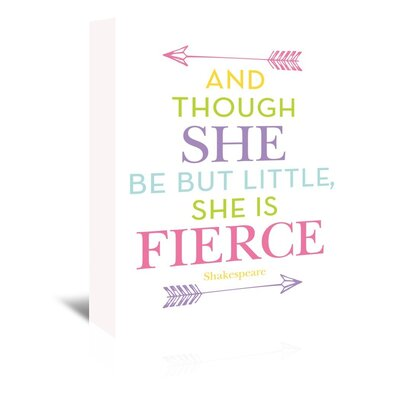 Americanflat 'She Is Fierce Multi' by Amy Brinkman Typography Wrapped on Canvas