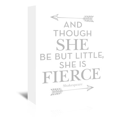 Americanflat 'She Is Fierce Grey' by Amy Brinkman Typography Wrapped on Canvas