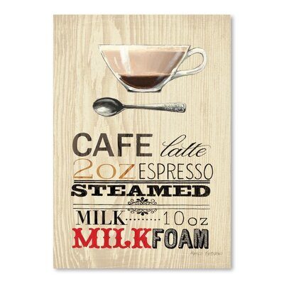 Americanflat 'Cafe Latte Espresso' by Marco Fabiano Vintage Advertisementhic