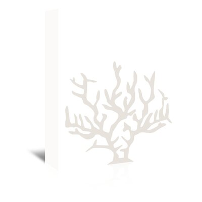 Americanflat 'Coral' by Jetty Printables Graphic Art Wrapped on Canvas in White