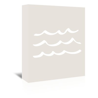 Americanflat 'Waves' by Jetty Printables Graphic Art Wrapped on Canvas
