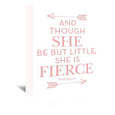 Americanflat 'She is Fierce' by Amy Brinkman Typography Wrapped on Canvas
