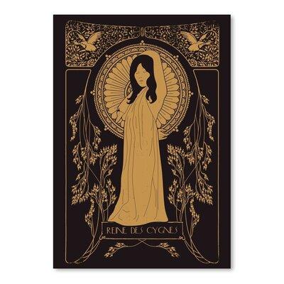 Americanflat 'Reine Des Cygnes Golden' by Florent Bodart Graphic Art