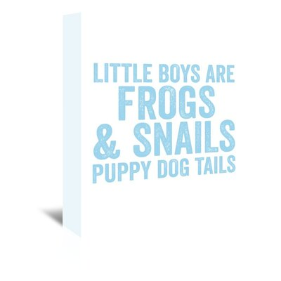 Americanflat 'Little Boys Are Light Blue' by Amy Brinkman Typography Wrapped on Canvas