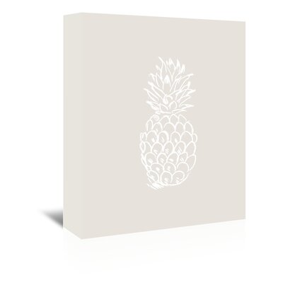 Americanflat 'Pineapple' by Jetty Printables Graphic Art Wrapped on Canvas in Beige