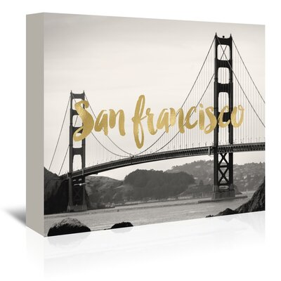 Americanflat 'San Francisco Golden Gate' by Amy Brinkman Graphic Art Wrapped on Canvas