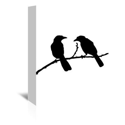 Americanflat 'Black Bird' by Jetty Printables Graphic Art Wrapped on Canvas