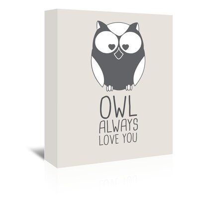 Americanflat 'Owl Always Love You' by Jetty Printables Graphic Art Wrapped on Canvas