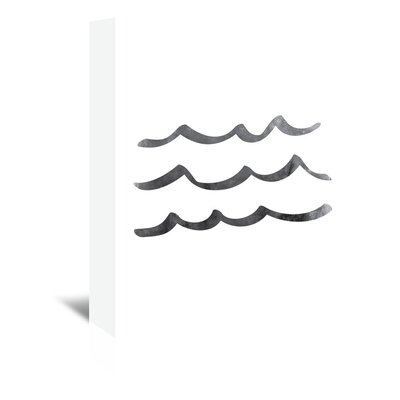 Americanflat 'BLack Waves' by Jetty Printables Graphic Art Wrapped on Canvas