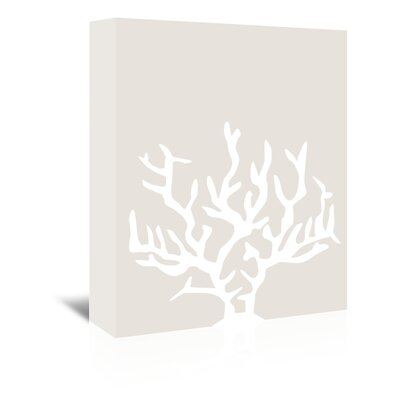 Americanflat 'Coral' by Jetty Printables Graphic Art Wrapped on Canvas in Beige