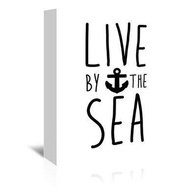 Americanflat Live by the Sea' by Jetty Printables Typography Wrapped on Canvas
