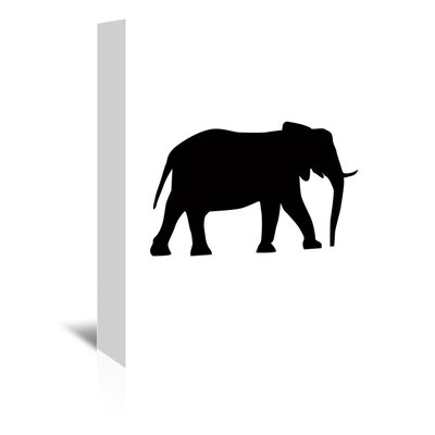 Americanflat 'Black Elephant' by Jetty Printables Graphic Art Wrapped on Canvas