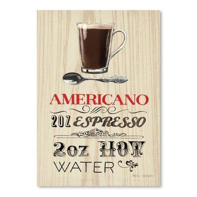 Americanflat 'Americano Espresso' by Marco Fabiano Vintage Advertisement