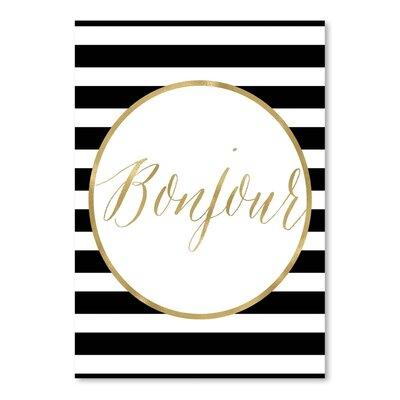 Americanflat 'Bonjour Stripe' by Amy Brinkman Graphic Art