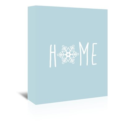 Americanflat 'Blue White Home Snowfake' by Jetty Printables Graphic Art Wrapped on Canvas