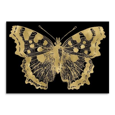 Americanflat 'Butterfly 1 Gold on Black' by Amy Brinkman Graphic Art