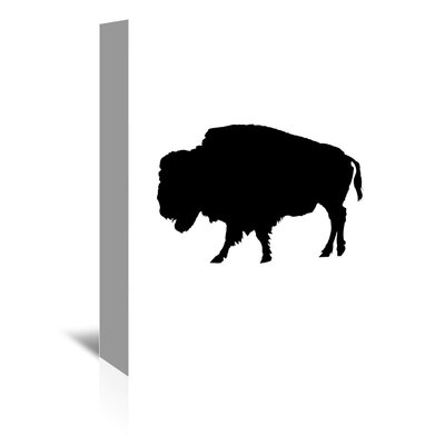 Americanflat 'Black Buffalo' by Jetty Printables Graphic Art Wrapped on Canvas