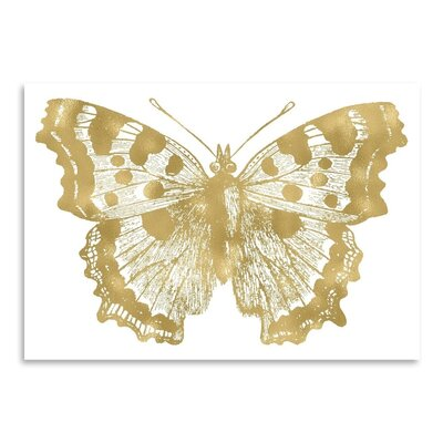 Americanflat 'Butterfly 1 Gold on White' by Amy Brinkman Graphic Art