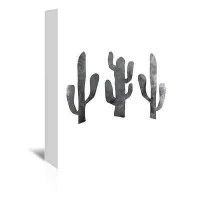 Americanflat 'White Cactus' by Jetty Printables Graphic Art Wrapped on Canvas