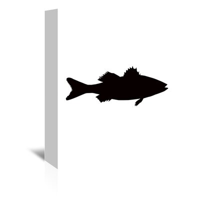 Americanflat 'Black Sea Bass' by Jetty Printables Graphic Art Wrapped on Canvas
