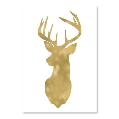 Americanflat 'Deer Head Left Face' by Amy Brinkman Graphic Art