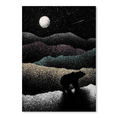 Americanflat 'Wandering Bear' by Florent Bodart Art Print