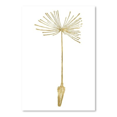 Americanflat 'Dandelion 1 Gold on White' by Amy Brinkman Graphic Art
