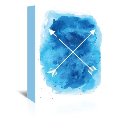 Americanflat 'Blue Watercolour Arrow' by Jetty Printables Graphic Art Wrapped on Canvas