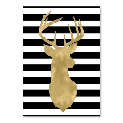Americanflat 'Deer Head Right Face Stripe' by Amy Brinkman Graphic Art