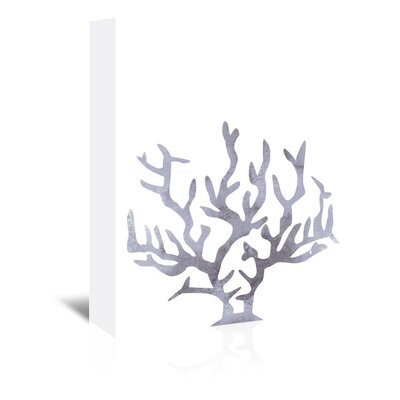 Americanflat 'Grey Coral' by Jetty Printables Graphic Art Wrapped on Canvas