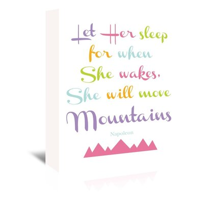 Americanflat 'Let Her Sleep Mountains Multi' by Amy Brinkman Typography Wrapped on Canvas