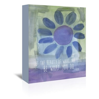 Americanflat 'Rumi Watercoloureauty of Love' by Amy Brinkman Graphic Art Wrapped on Canvas