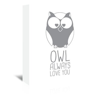 Americanflat 'Grey Owl' by Jetty Printables Graphic Art Wrapped on Canvas