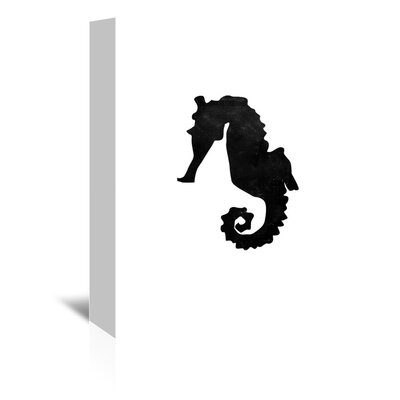 Americanflat 'Faded Seahorse' by Jetty Printables Graphic Art Wrapped on Canvas
