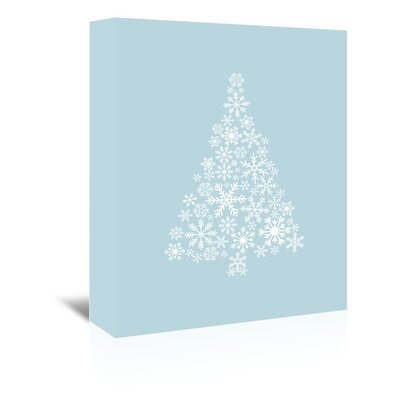 Americanflat 'Blue White Snowflake Tree' by Jetty Printables Graphic Art Wrapped on Canvas
