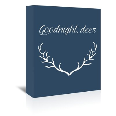 Americanflat 'Goodnight Deer' by Jetty Printables Graphic Art Wrapped on Canvas