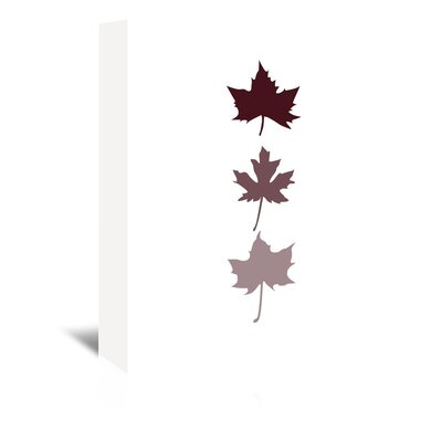 Americanflat 'Burgunday Leaves' by Jetty Printables Graphic Art Wrapped on Canvas