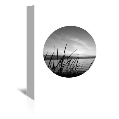 Americanflat 'Dune Grass Black White Circle' by Jetty Printables Photographic Print Wrapped on Canvas