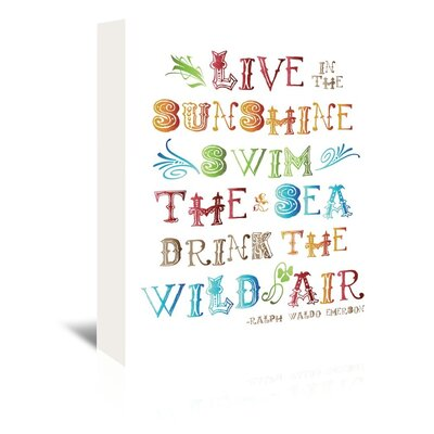 Americanflat 'Live in The Sunshine Multi' by Amy Brinkman Graphic Art Wrapped on Canvas