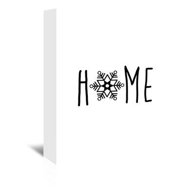 Americanflat 'Home Snowfake' by Jetty Printables Graphic Art Wrapped on Canvas