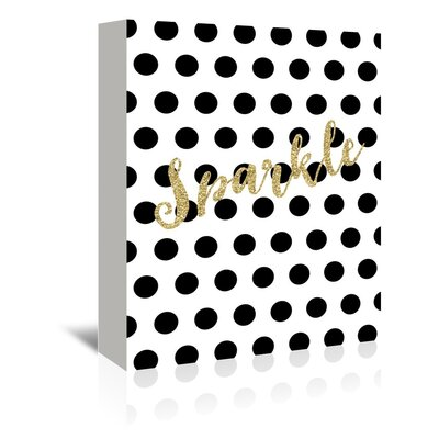 Americanflat 'Sparkle Glitter Dots' by Amy Brinkman Typography Wrapped on Canvas