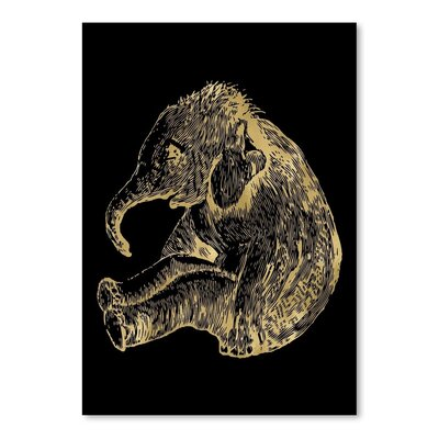 Americanflat 'Elephant Baby' by Amy Brinkman Graphic Art