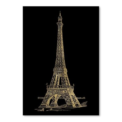 Americanflat 'Eiffel Tower' by Amy Brinkman Graphic Art