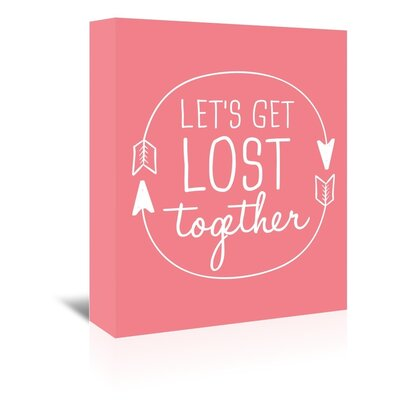 Americanflat 'Coral White Let's Get Lost' by Jetty Printables Typography Wrapped on Canvas