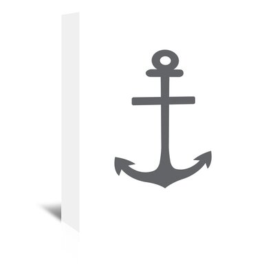 Americanflat 'Anchor' by Jetty Printables Graphic Art Wrapped on Canvas in Black