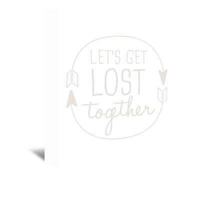 Americanflat 'Beige Let's Get Lost' by Jetty Printables Typography Wrapped on Canvas